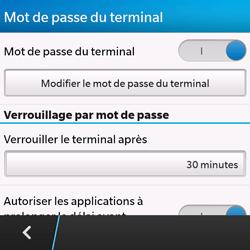BlackBerry Q10 - Sécuriser votre mobile - Activer le code de verrouillage - Étape 9