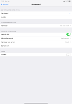 Apple ipad-pro-11-inch-2018-model-a1934 - E-mail - Account instellen (POP3 met SMTP-verificatie) - Stap 22