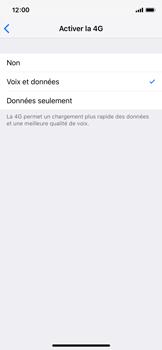 Apple iPhone X - iOS 12 - Réseau - Activer 4G/LTE - Étape 7
