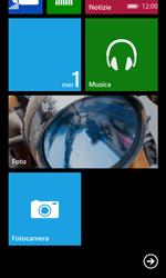 Nokia Lumia 635 - Operazioni iniziali - Personalizzazione della schermata iniziale - Fase 5