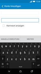 HTC One Mini 2 - E-Mail - Konto einrichten - 0 / 0
