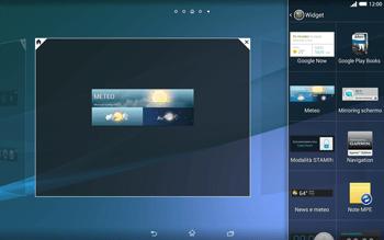 Sony Xperia Tablet Z2 LTE - Operazioni iniziali - Installazione di widget e applicazioni nella schermata iniziale - Fase 7