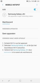 Samsung galaxy-j4-plus-dual-sim-sm-j415fn - WiFi - Mobiele hotspot instellen - Stap 12