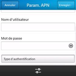 BlackBerry Q5 - Internet - configuration manuelle - Étape 11
