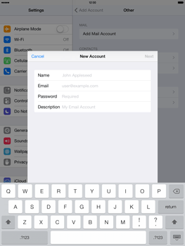 Apple iPad Air - E-mail - manual configuration - Step 11