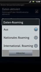 Sony Ericsson Xperia Arc S - Ausland - Auslandskosten vermeiden - 2 / 2