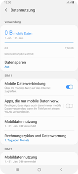 Samsung Galaxy A80 - Internet und Datenroaming - Prüfen, ob Datenkonnektivität aktiviert ist - Schritt 7