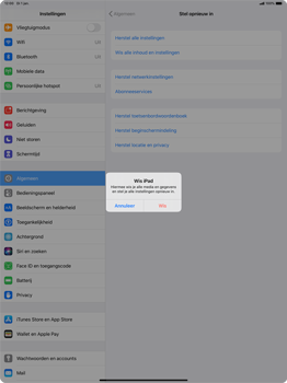Apple ipad-pro-12-9-ipados-13 - Resetten - Fabrieksinstellingen terugzetten - Stap 6