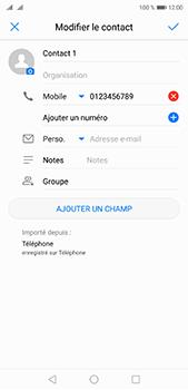 Huawei P20 pro - Contact, Appels, SMS/MMS - Ajouter un contact - Étape 9