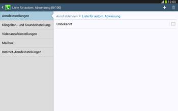 Samsung Galaxy Tab 3 10-1 LTE - Anrufe - Anrufe blockieren - 8 / 14
