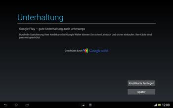 Sony Xperia Tablet Z LTE - Apps - Einrichten des App Stores - Schritt 23