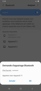Samsung Galaxy A80 - Internet et connexion - Connexion avec un équipement multimédia via Bluetooth - Étape 9
