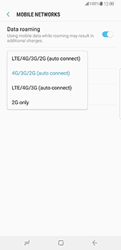 Samsung Galaxy Note 8 - Network - Change networkmode - Step 8