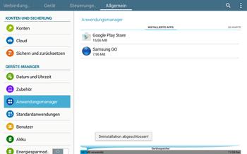 Samsung T535 Galaxy Tab 4 10.1 - Apps - Eine App deinstallieren - Schritt 9