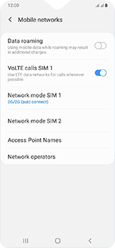 Samsung Galaxy A20e - Network - Enable 4G/LTE - Step 6