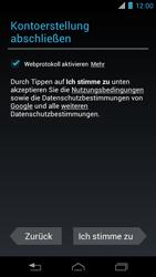 Motorola XT890 RAZR i - Apps - Konto anlegen und einrichten - Schritt 15