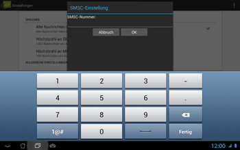 Asus Padfone 2 - SMS - Manuelle Konfiguration - Schritt 7