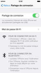 Apple iPhone 5 - Internet et connexion - Utiliser le mode modem par USB - Étape 8