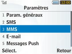 Samsung S3350 Chat 335 - MMS - Configuration manuelle - Étape 14