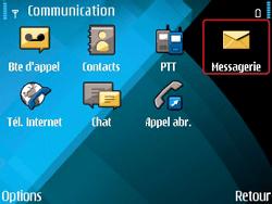 Nokia E71 - SMS - configuration manuelle - Étape 4
