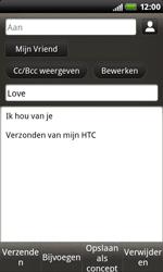 HTC S510b Rhyme - E-mail - hoe te versturen - Stap 10
