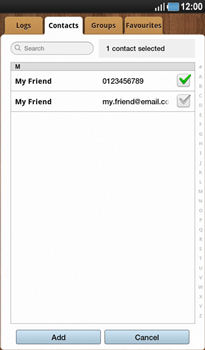 Samsung P1000 Galaxy Tab - MMS - Sending pictures - Step 5