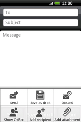 HTC A6262 Hero - E-mail - Sending emails - Step 7