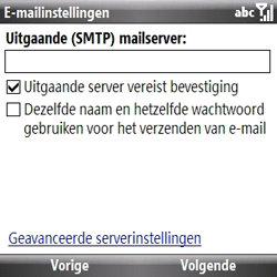 Samsung B7330 Omnia Pro - e-mail - handmatig instellen - stap 11