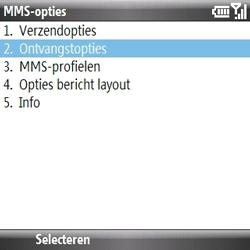 Samsung B7330 Omnia Pro - MMS - probleem met ontvangen - Stap 8