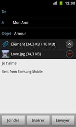 Samsung I9100 Galaxy S II - E-mail - envoyer un e-mail - Étape 10