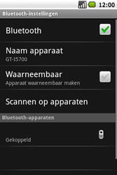Samsung Galaxy Spica (GT-i5700) - Bluetooth - Headset, carkit verbinding - Stap 10