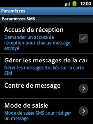 Samsung S5360 Galaxy Y - SMS - configuration manuelle - Étape 4