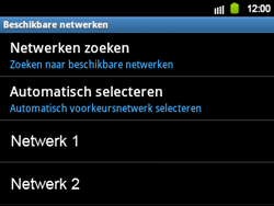 Samsung B5510 Galaxy TXT - netwerk en bereik - gebruik in binnen- en buitenland - stap 10