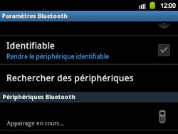 Samsung B5510 Galaxy TXT - Bluetooth - connexion Bluetooth - Étape 12