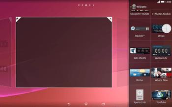 Sony Xperia Tablet Z2 LTE - Startanleitung - Installieren von Widgets und Apps auf der Startseite - Schritt 5