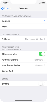 Apple iPhone X - E-Mail - Konto einrichten - 0 / 0