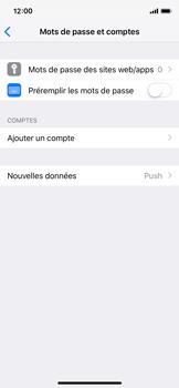 Apple iPhone X - iOS 12 - E-mail - Configuration manuelle - Étape 5