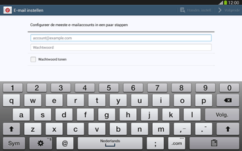 Samsung P5220 Galaxy Tab 3 10-1 LTE - E-mail - e-mail instellen: IMAP (aanbevolen) - Stap 5