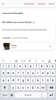 Samsung G928F Galaxy S6 edge+ - Android M - E-Mail - E-Mail versenden - Schritt 18