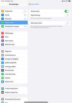 Apple iPad Pro 11 (2018) - iPadOS 13 - Netzwerk - So aktivieren Sie eine 4G-Verbindung - Schritt 6