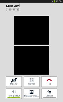 Samsung Galaxy Tab 3 8 4G - Contact, Appels, SMS/MMS - Utiliser la visio - Étape 8