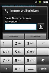 Sony Xperia Go - Anrufe - Rufumleitungen setzen und löschen - 7 / 9
