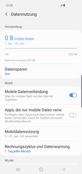 Samsung Galaxy S10 Plus - Internet und Datenroaming - Prüfen, ob Datenkonnektivität aktiviert ist - Schritt 7