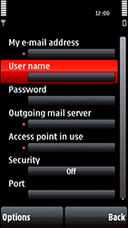 Nokia 5800 Xpress Music - Email - Manual configuration POP3 with SMTP verification - Step 26