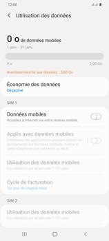 Samsung Galaxy S20+ - Internet et connexion - Désactiver la connexion Internet - Étape 7