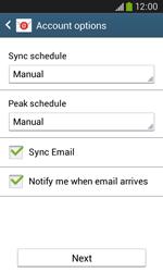 Samsung Galaxy Ace III - E-mail - manual configuration - Step 17