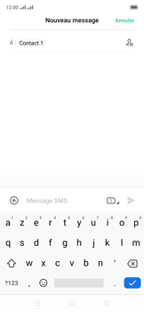 Oppo Reno 2Z - Contact, Appels, SMS/MMS - Envoyer un SMS - Étape 10