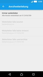 Sony Xperia M4 Aqua - Anrufe - Rufumleitungen setzen und löschen - 1 / 1