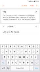Samsung G920F Galaxy S6 - Android Nougat - E-mail - Sending emails - Step 9