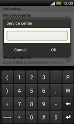 HTC T320e One V - SMS - Manual configuration - Step 6